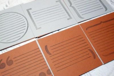 12 pcs Scrapbooking Large Journaling Blocks