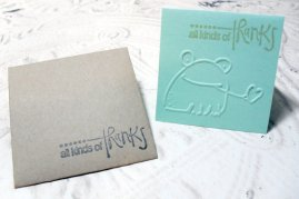 4pc Embossed Frog Thank You Mini Cards with Envelopes - 2x2
