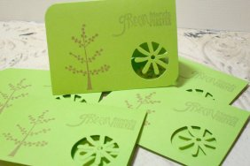 6pc Environmental Awareness Cards Flower Cut - Going Green