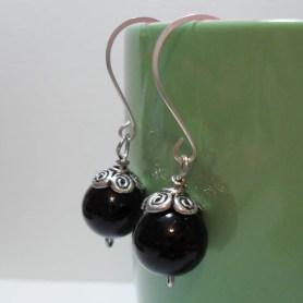 Black Pearl Drop Earrings