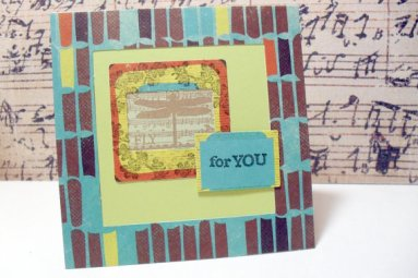 Festive Dragonfly For You Stamped Dimensional Card - 4 x 4
