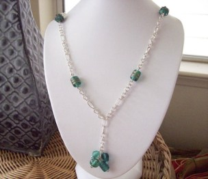 Lampwork Y Style Necklace