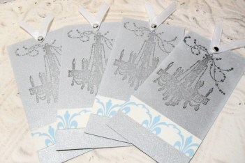 Mini Notecard Bookmark Chic Chandelier Tags 4pc
