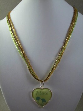 Three Layer Seed Beaded Patience Pendant Necklace