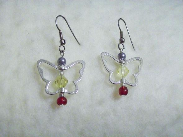 butterfly charm dainty earrings