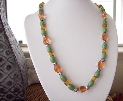 orange cat eye necklace