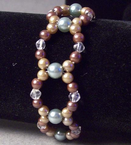 woven glass pearl bracelet