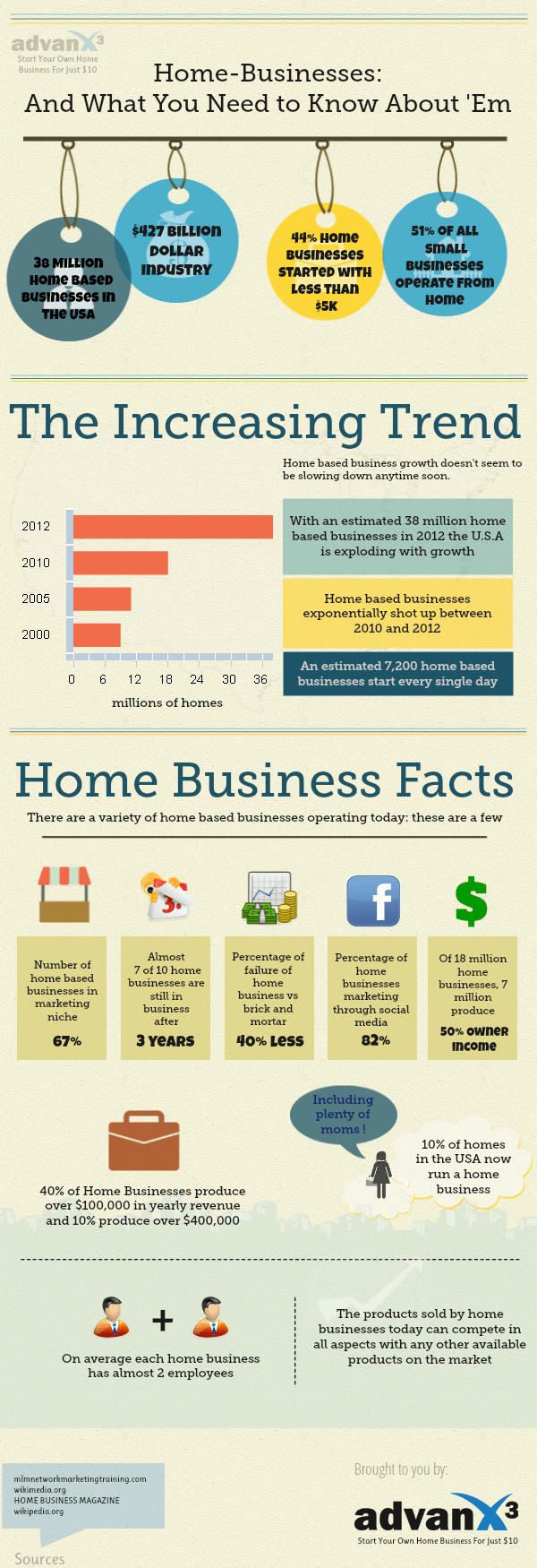 Statistics of Home Businesses