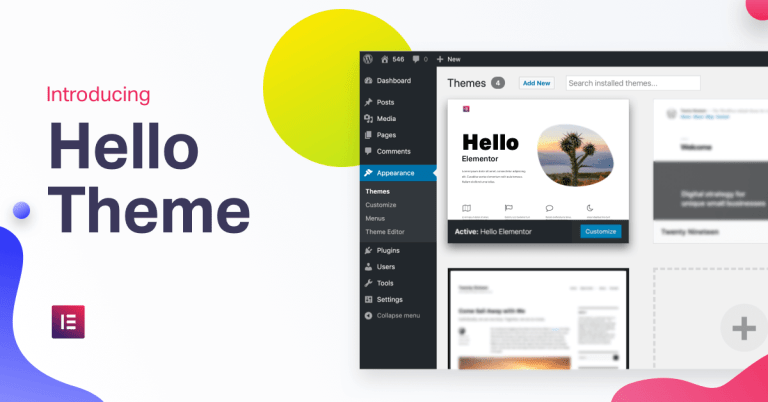 switching to the hello theme