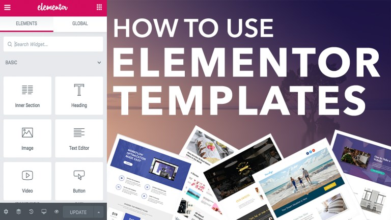 how to use elementor templates