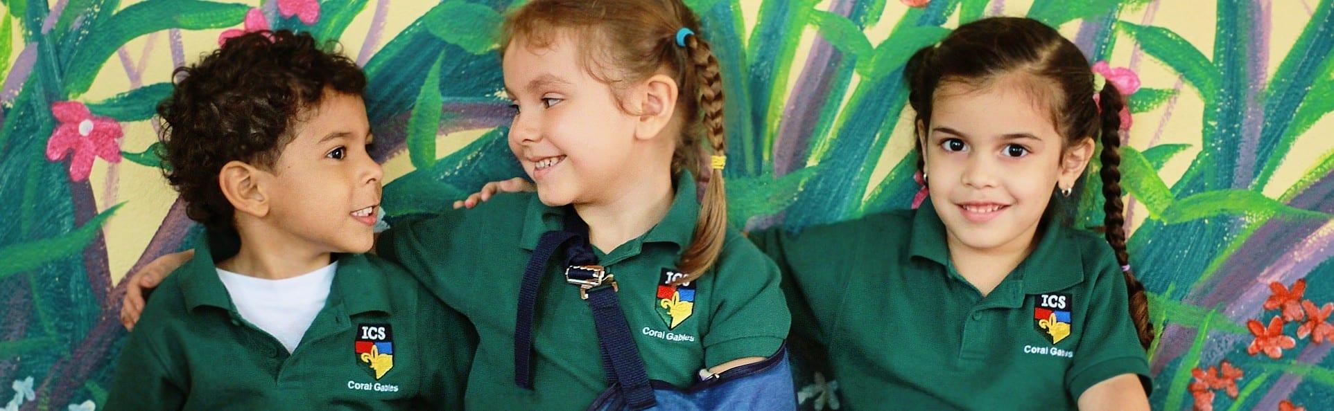 Preschool students at ICS Coral Gables