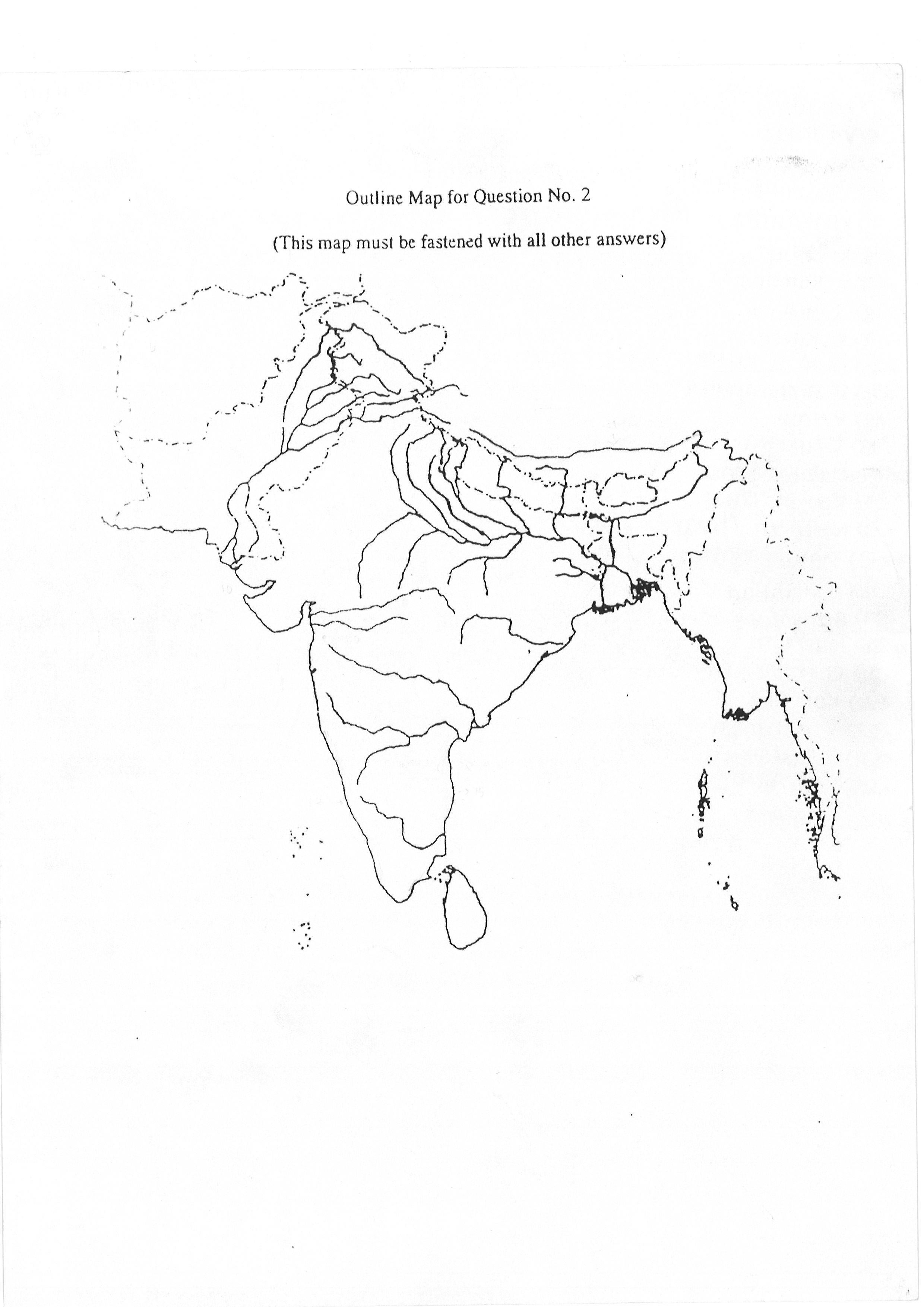 Geography Sample India Map Outline Helpline For Icse Students Class 10