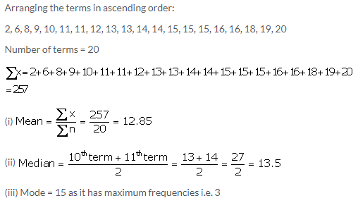 Selina Concise Mathematics Class 10 ICSE Solutions Measures of Central Tendency image - 84