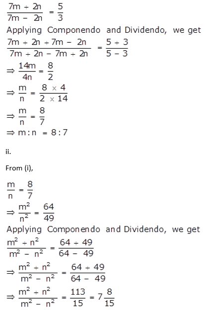 Selina Concise Mathematics Class 10 ICSE Solutions Ratio and Proportion (Including Properties and Uses) - 140