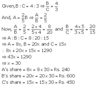 Selina Concise Mathematics Class 10 ICSE Solutions Ratio and Proportion (Including Properties and Uses) - 16