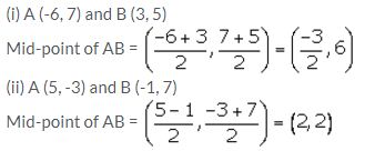 Selina Concise Mathematics Class 10 ICSE Solutions Section and Mid-Point Formula - 33