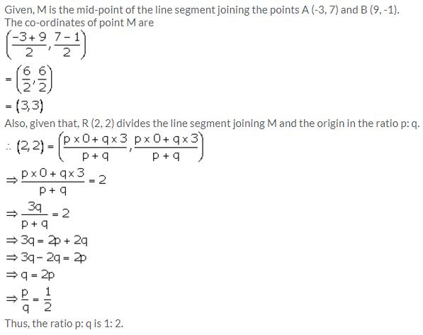 Selina Concise Mathematics Class 10 ICSE Solutions Section and Mid-Point Formula - 81