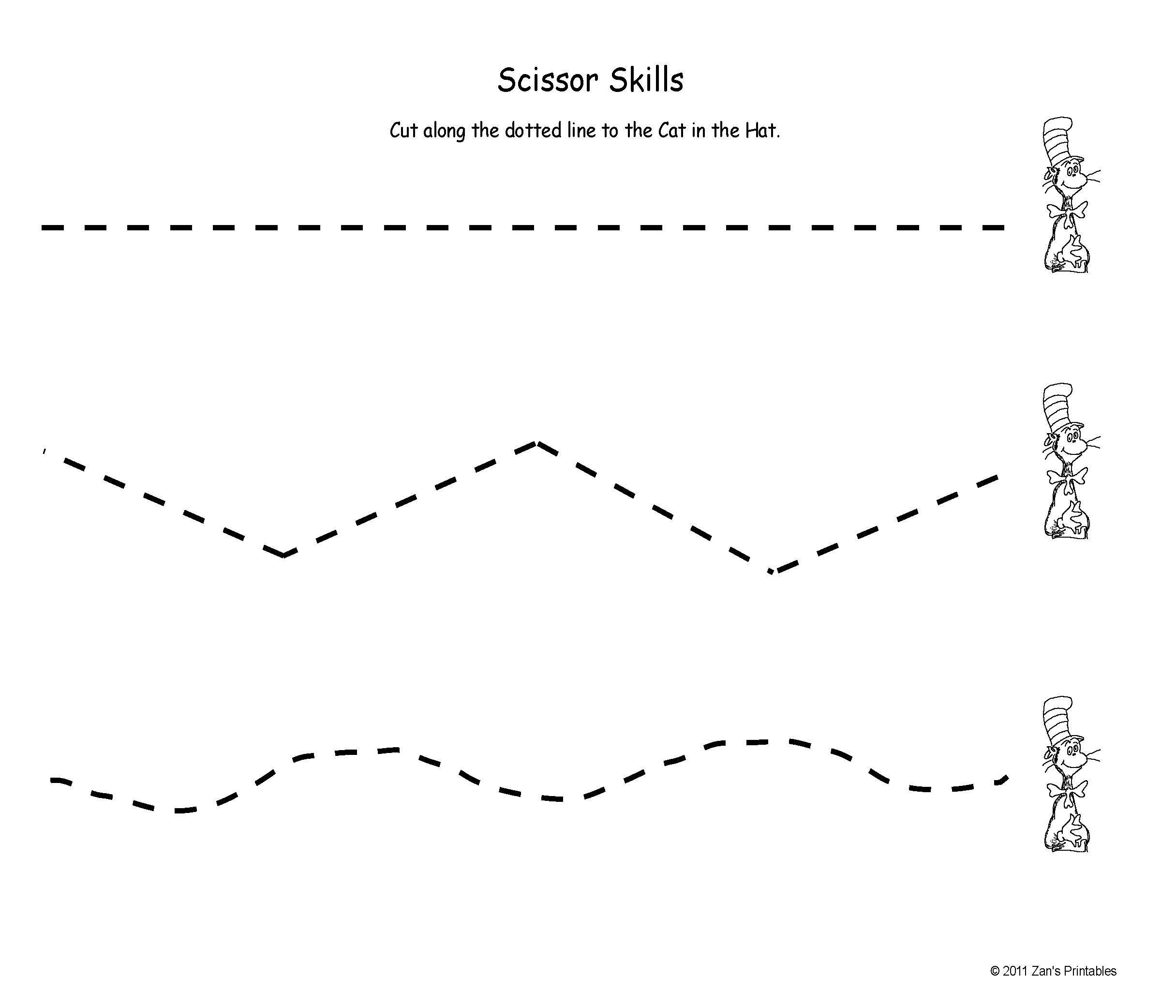Exercises For Preschool Cutting Worksheet