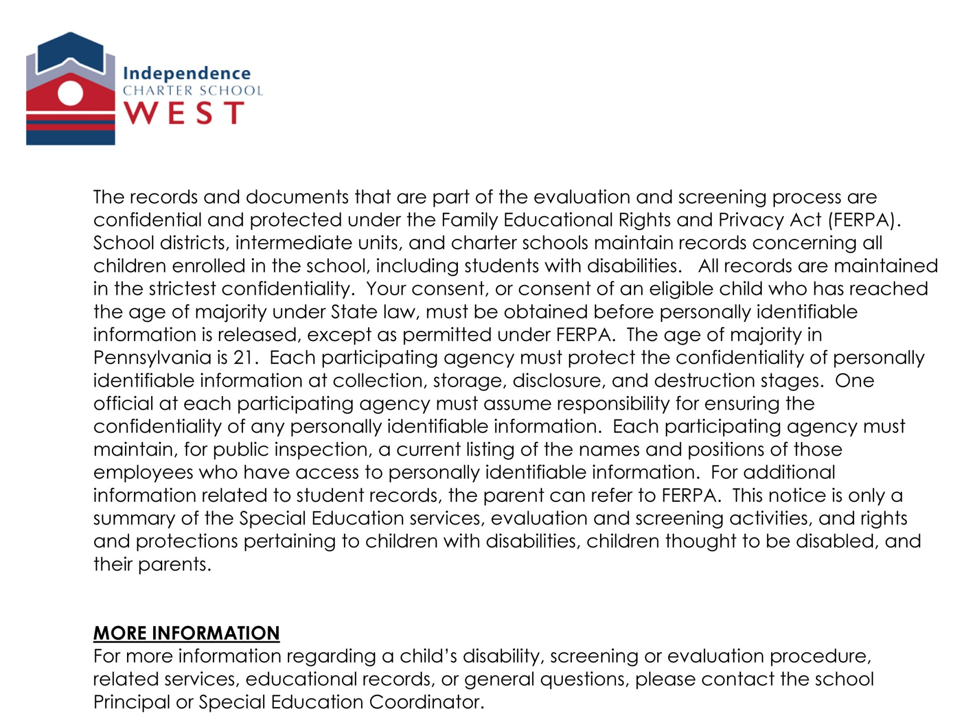 Annual Notice of Special Education Services