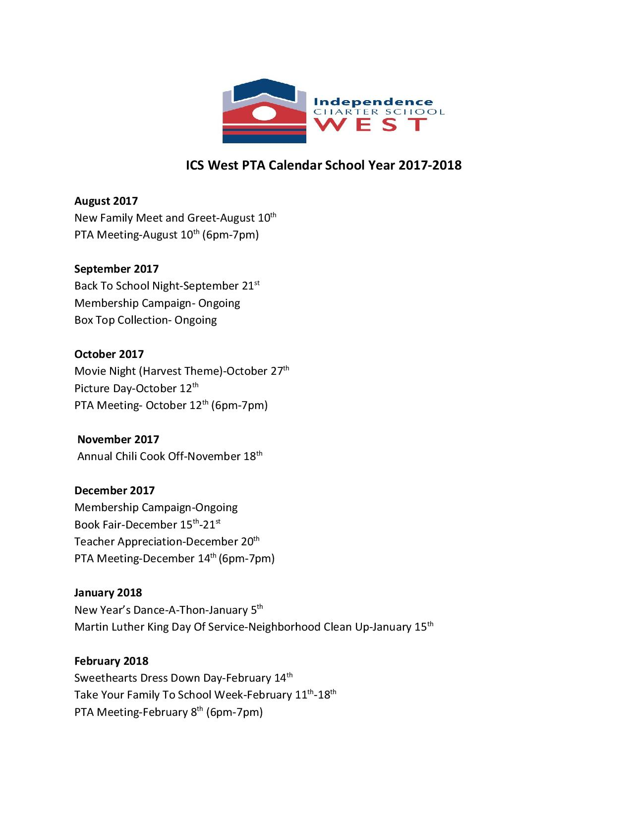 ICS West PTA Calendar School Year 2017-2018.docx-page-001