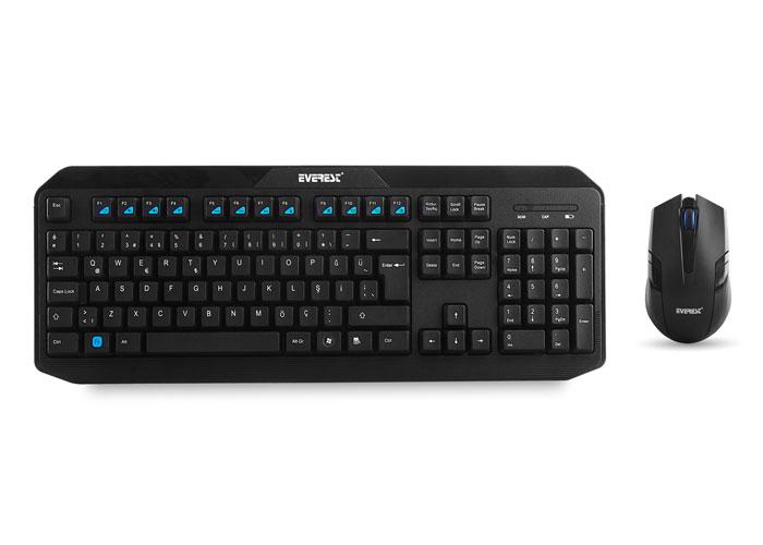 Everest KM-8000 Wireless Multimedia Keyboard + Mouse Set