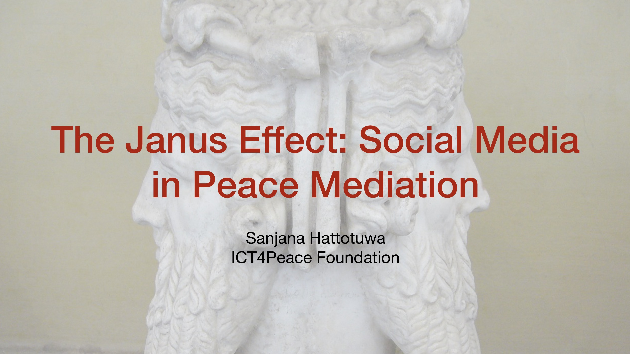 The Janus Effect Social Media In Peace Mediation Ict4peace Foundation