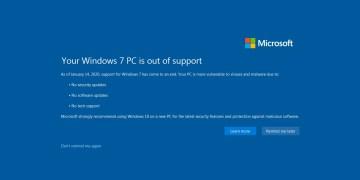 Windows 7 To Stop Receiving Updates