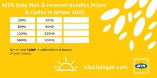 MTN Data Plan & Internet Bundles Prices & Codes in Ghana 2020