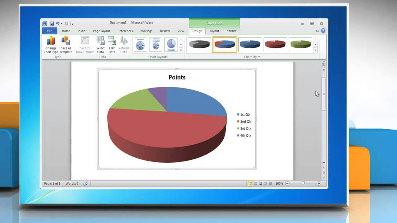 How To Make Pie Chart On MS Word 2021