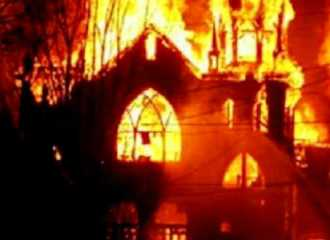 Church in Egypt on fire