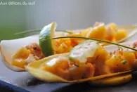 Endives aux crevettes et à la mangue : Etape 1