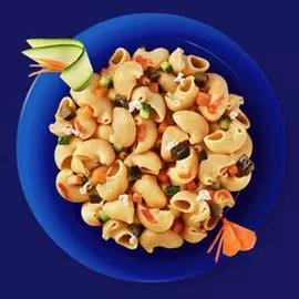 Pipe Rigate Integrali à la ricotta fraîche et aux légumes cuits à l étouffée