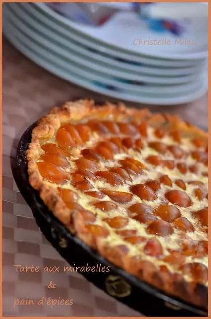 Tarte aux mirabelles & pain d'épices