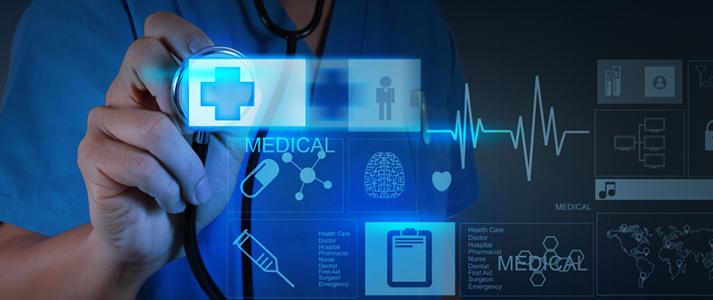 Medical Doctor accessing data through computer