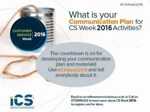 CSWeek2016 Communication Plan