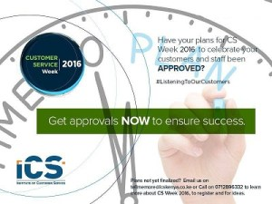 Approvals for CSWeek 2016