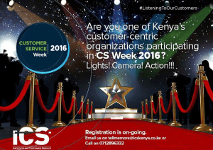 Are you Customer Centric? #CSWeek2016