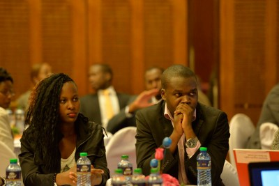 Attendees paying close attention to the speakers