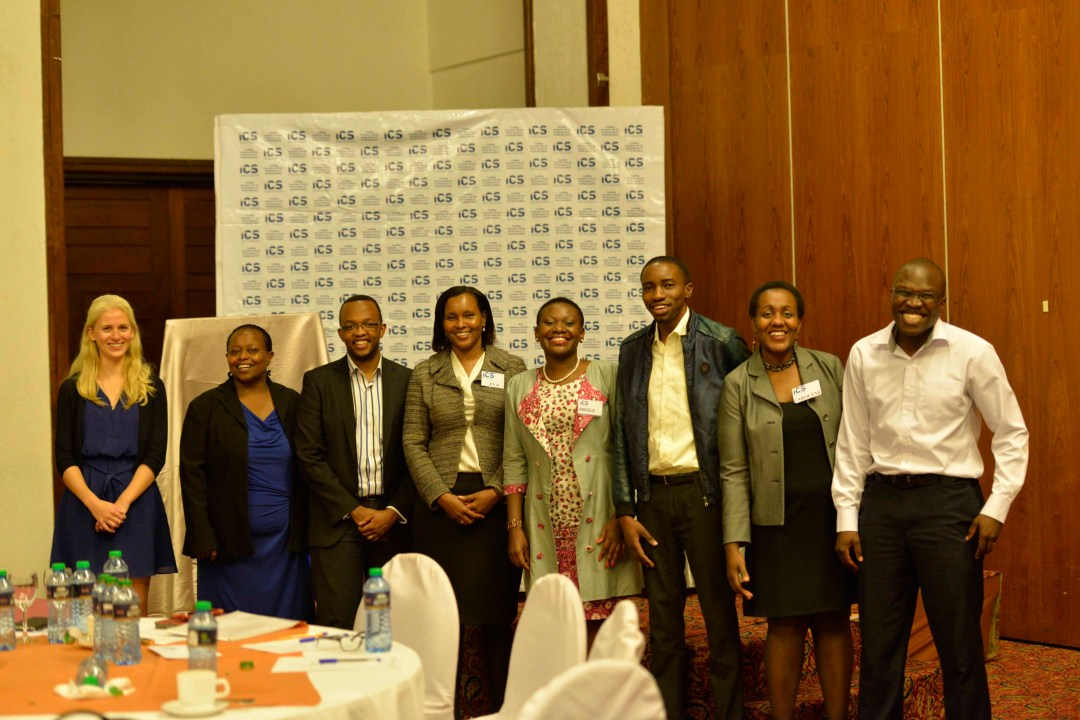 ICS team, Msurvey team and the panelist pose for the camera after a delightful event.
