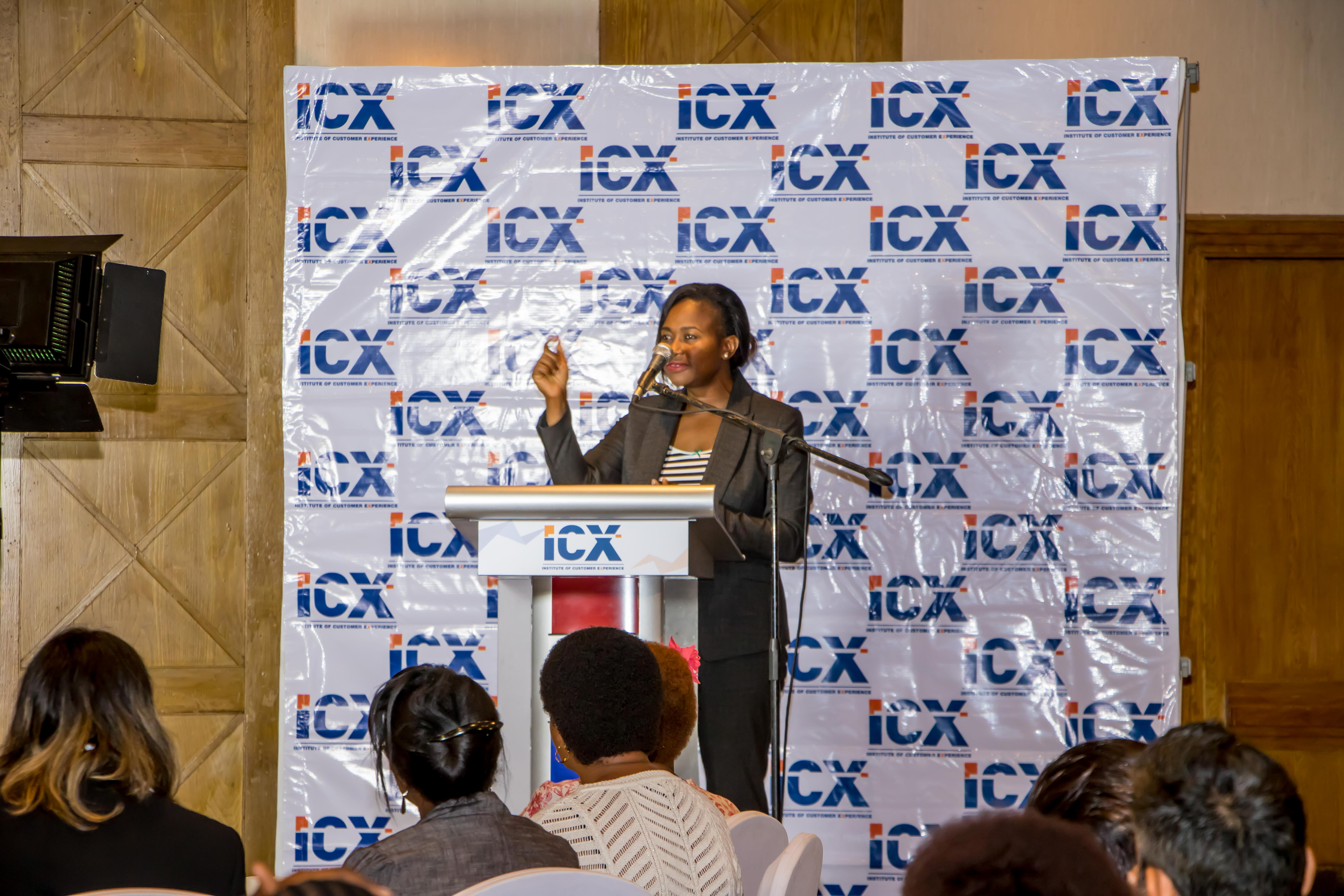 Board Member, Ms. Janet Atika inspires the decision makers in the service industry as she makes a few remarks on behalf of the board