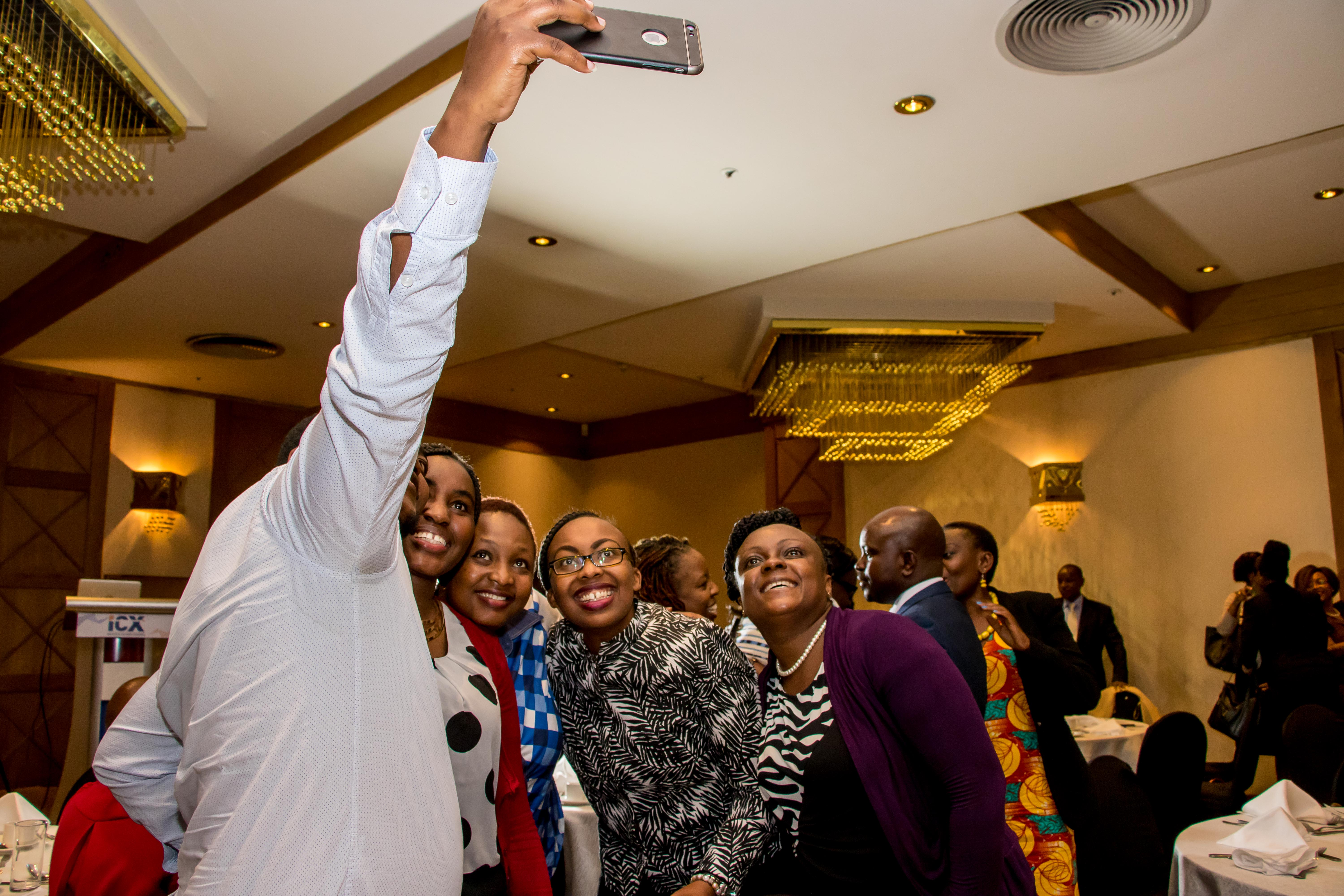 Guests enjoying selfie moment after the event