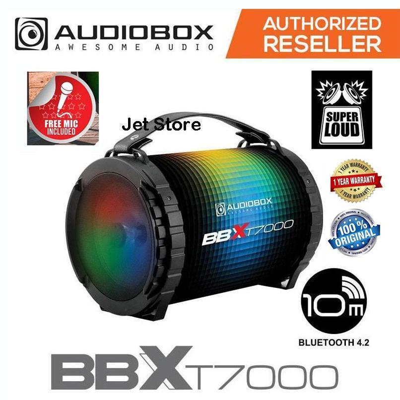 Audiobox Speaker BBX T7000 Super Loud - BLUETOOTH, TF-Card, USB, FM RADIO, AUX IN, with MIC