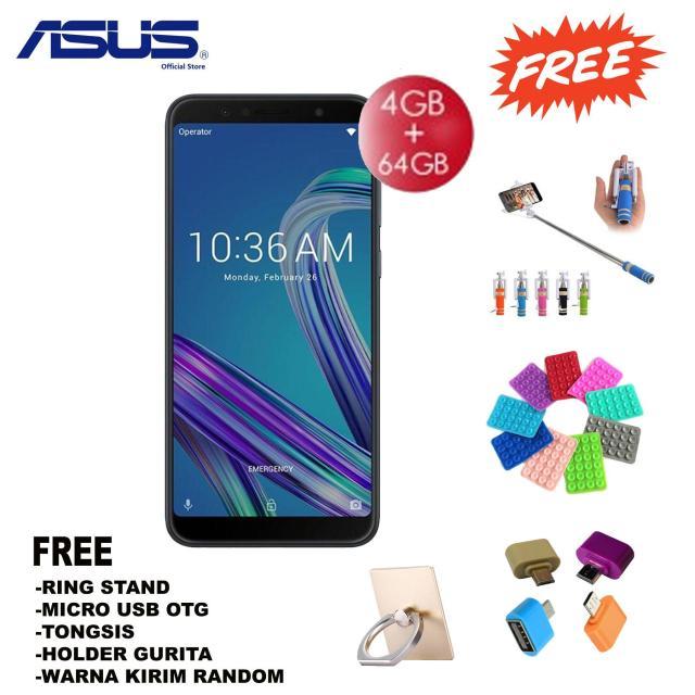 Asus Zenfone Max Pro (M1) ZB602KL 4/64GB - Garansi Resmi - Free Paket Accesories
