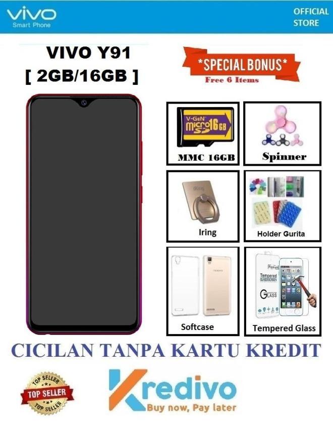 Vivo Y91 Ram 2GB/16B - Cicilan Tanpa Kartu Kredit + Bonus 6 Acc