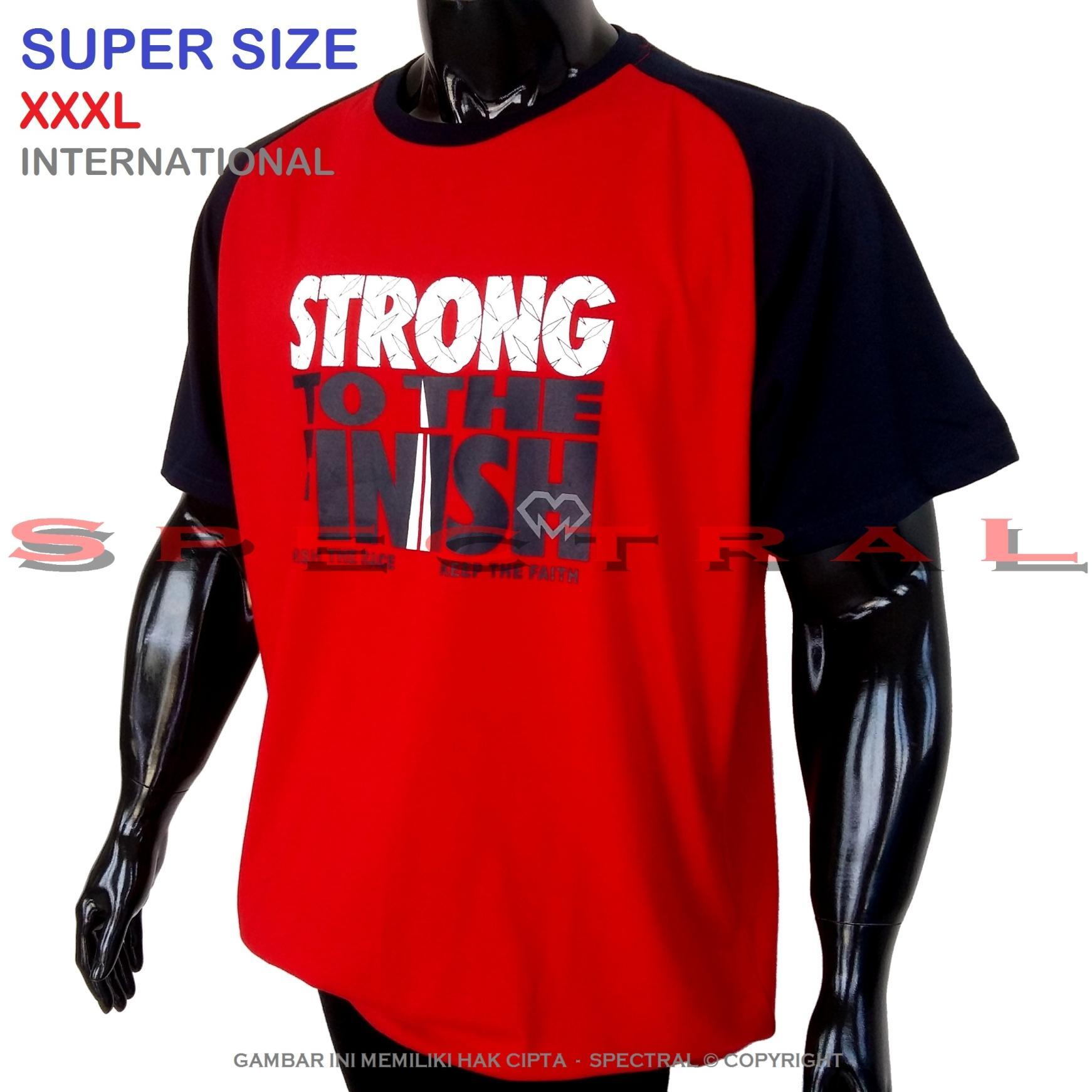 Spectral – 3XL SUPER BIG SIZE XXXL 100% Cotton Combed Kaos Distro Jumbo T-Shirt Fashion Ukuran Besar Polos Celana Olahraga Atasan Pria Wanita Dewasa Bapak Orang Tua Muda Terbaru Gemuk Gendut Sport Casual Bagus Keren Baju Cowo Cewe Pakaian 3L Raglan Reglan