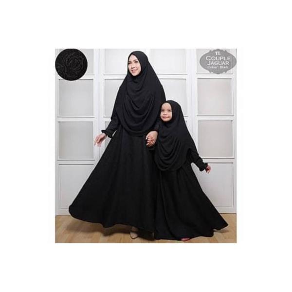 [Cp Mom Kids Jaguar Black TL] pakaian muslim pasangan ibu dan anak