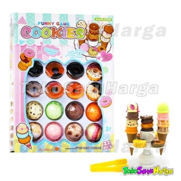 TSH Mainan Edukasi Anak Funny Game Cookies Ice Cream Tumpuk kue dan es
