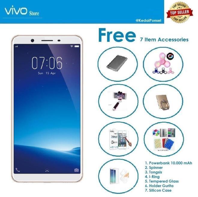 VIVO Y71 New Version [2/16GB] + Paket Accessories (7 Item)