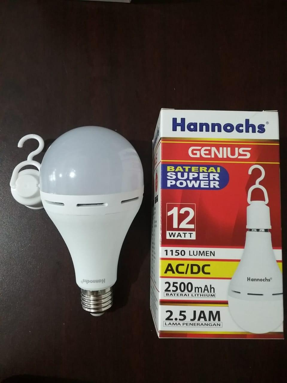 Lampu Led Hannochs Genius 12w Sentuh Hidup Otomatis Nyala