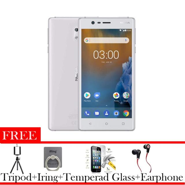 Nokia 3 2/16 Android Termurah Free Earphone + Tripod +I Ring +Tempered Glass